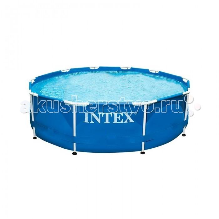 Бассейн Intex каркасный 305х76 смкаркасный 305х76 смКаркасный бассейн Intex имеет прочный металлический ободок. Такая чудесная модель прекрасно для купания в жаркие летний день. Конструкцию можно поставить на заднем дворе дома или на дачном участке.   Бассейн собирается не больше чем за пол часа, что экономит время и позволит вашим детям не томиться в ожидании.   Бассейн очень прочный. Металлический каркас обеспечивает дополнительную устойчивость, стенки бассейна сделаны из трех слоев: первые два — это прочный винил, между стенками имеется сетка из полиэстера, благодаря которой конструкция будет дольше служить.   Водосток имеет удобную форму, которая отлично соединяется с садовым шлангом. Тем самым, спуская воду с бассейна, вы можете полить цветы на участке.  Размер: 305х76 см.  Вместимость бассейна: 4485 л.  Вес: 17 кг.<br>