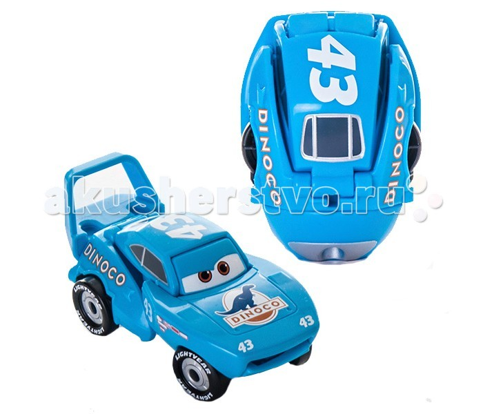 EggStars Яйцо-трансформер КингЯйцо-трансформер КингEggStars Яйцо-трансформер Кинг. Кинг - один из соперников Молнии МакКуина из мультфильма Тачки, многократный победитель гонок за кубок Поршня. Прототип Кинга - автомобиль Ричарда Петти Superbird. Машина окрашена в голубые тона, на капоте логотип с изображением динозавра, а сбоку - номер 43. Легендарный чемпион, король гонок, Кинг дал МакКуину много ценных советов.  Яйцо-трансформер Кинг легко складывается и раскладывается. Нужно всего несколько движений, чтобы овал превратился в любимого героя!   Игрушки EggStars не только занимательны, но и полезны - они развивают мелкую моторику и логическое мышление.<br>