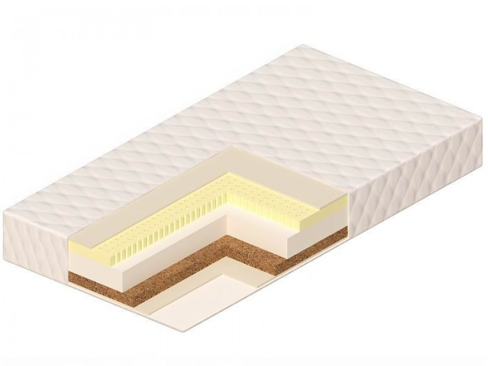 Матрас Vikalex Палермо 120х60х12Палермо 120х60х12Матрас в кроватку Vikalex Палермо 120х60х12 - это двухсторонний матрас разной степени жесткости на основе холлкона. Жесткая кокосовая койра формирует осанку ребенка. Экологичные материалы, не вызывающие аллергию при производстве. Чехол хорошо проводит воздух и влагу и быстро высыхает. С таким матрасом сон ребенка будет безмятежным. Европейский сертификат соответствия СЕ / Сертификат РСТ   Состав матраса: Анатомический латекс (10 мм.)  Hollcon (60 мм.)  Латексированная кокосовая койра (10 мм.)  Нетканый материал Airotek  Стеганый съемный чехол на молнии (ткань ТИК)   Основа - Hollcon. Холлкон — этот материал удивителен сам по себе: каждое волокно в нем складывается спиралью, в результате получается огромное количество маленьких пружинок, которые скрепляются между собой безо всякого клея и других веществ. В результате— никаких аллергических реакций, материал не впитывает влагу и запахи, к тому же он теплый, пушистый и мягкий на ощупь.  Кокосовая койра. Кокосовая койра известна эластичностью, прочностью и долговечностью. Помимо прочности и износоустойчивости, кокосовые матрасы обладают рядом таких преимуществ, как гипоалергенность, влагоустойчивость (кокосовая койра не впитывает воду) и воздухопроницаемость.  Латекс натуральный. Латекс - это тоже натуральный материал - вспененный сок каучукового дерева. Он очень упругий, поэтому прекрасно восстанавливает первоначальную форму. Он также выполняет главное условие ортопедических матрасов.<br>