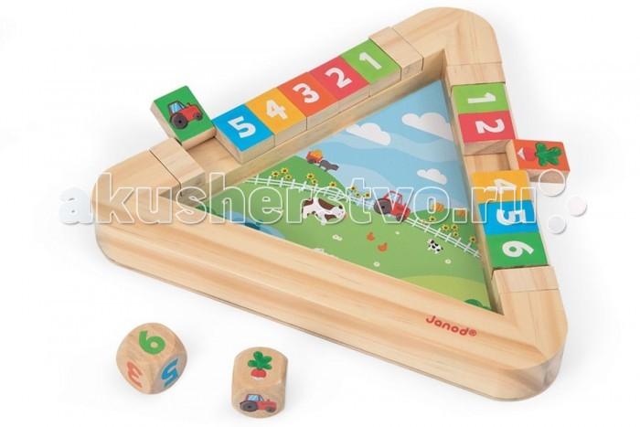 Деревянная игрушка Janod Настольная игра с кубиками Огород