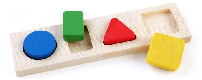 Деревянная игрушка Томик Доска-Вкладыш Геометрия Малая