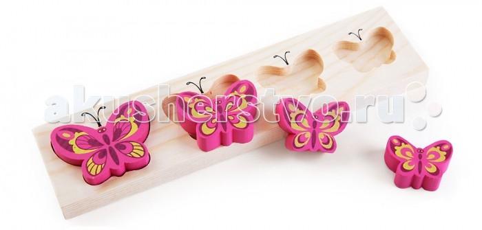 Деревянная игрушка Томик Доска-Вкладыш Бабочки БМ