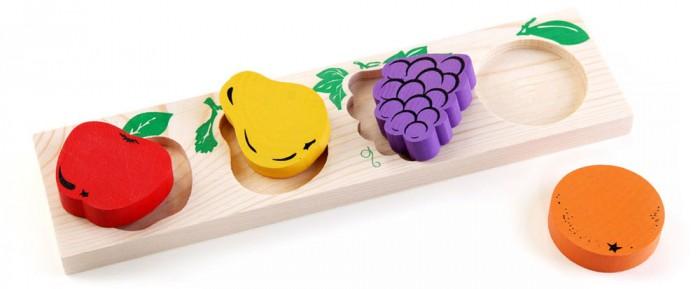Деревянная игрушка Томик Доска-Вкладыш Фрукты-ягоды