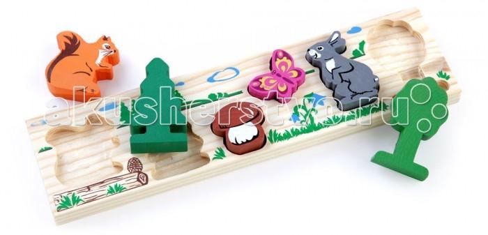 Деревянная игрушка Томик Доска-Вкладыш Лес