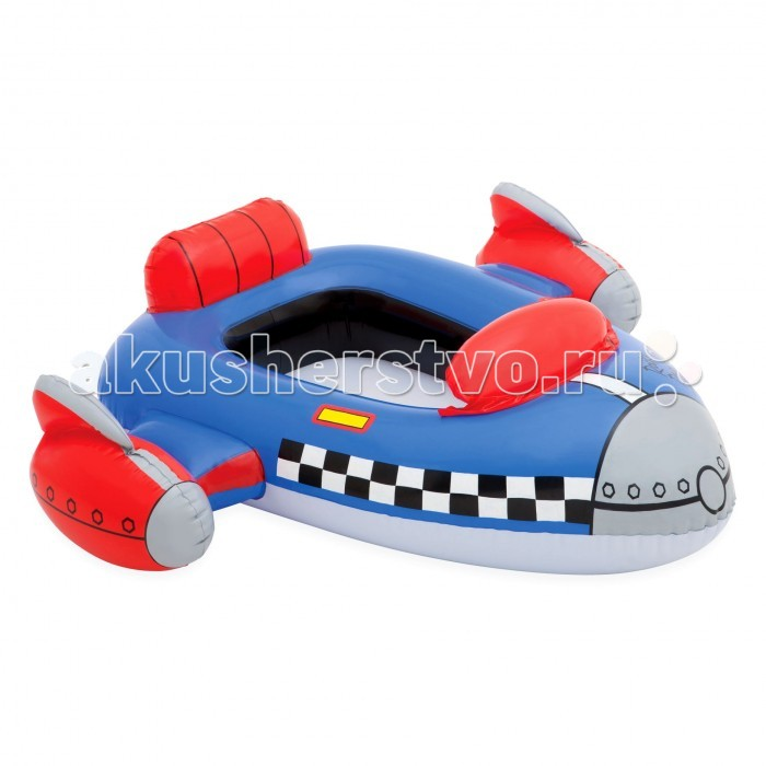 Intex Лодка детская 59380NP - IntexЛодка детская 59380NPЛодка детская INTEX. Интересным досугом для ребенка может стать плавание на лодке. Представленные в ассортименте варианты (три вида) подходят малышам как нельзя лучше. Учиться пользоваться необычным транспортом детям можно, начиная с трехлетнего возраста.  Размер: 102 х 69 см<br>