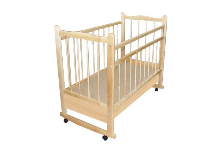 Детская кроватка Russia Мишутка 14 (качалка) - Светлый с ящиком