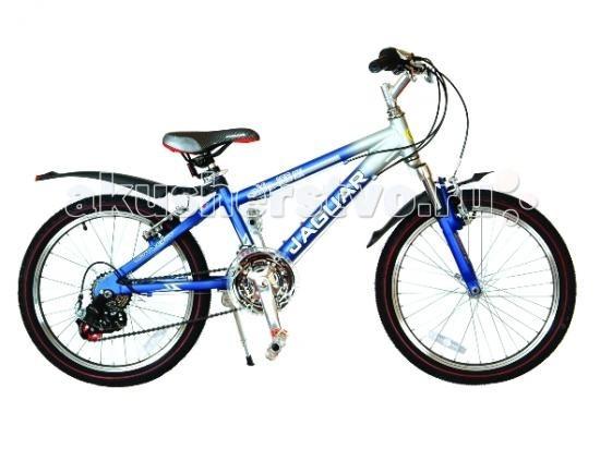 Велосипед двухколесный Jaguar Alfa MS-2018Alfa MS-2018Велосипед двухколесный Jaguar Alfa MS-2018 станет прекрасным подарком для вашего ребенка. Велосипед поможет прекрасно провести время, а также мышцы малыша будут в тонусе. Рекомендовано детям от 6 до 11-ти лет.  Особенности: размер колеса: 20 дюймов алюминевая MTB рама (AL 7005) уменьшает вес велосипеда) пневматические шины с крупным протектором система переключения скоростей Shimano RX 30 количество скоростей - 18 с удобным переключением на руле быстро регулируемое по высоте сиденье быстроcъемное переднее колесо (зажим-эксцентрик) тормоза: V-brake передний амортизатор пластиковые крылья алюминиевые точеные обода, руль и вынос руля трехкомпонентный шатун подножка (регулируемая по высоте) пластиковая защита цепи светоотражающие катафоты  Длина: 120 см Высота: 65 см<br>
