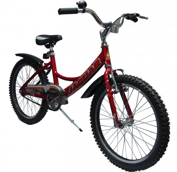 Велосипед двухколесный Jaguar MS-А202MS-А202Велосипед двухколесный Jaguar MS-А202 поможет прекрасно провести время, а также мышцы малыша будут в тонусе. Рекомендовано детям от 6 до 11-ти лет.  Особенности: размер колеса: 20 дюймов; алюминевая L-рама (AL 7005 уменьшает вес велосипеда); пневматические шины с крупным протектором; быстро регулируемое по высоте сиденье; быстроcемное переднее колесо (зажим-эксцентрик); передний ручной и задний ножной тормоз; пластиковые крылья; алюминиевые точеные обода, руль и вынос руля; трехкомпонентный шатун; подножка (регулируемая по высоте); пластиковая защита цепи; светоотражающие катафоты.<br>