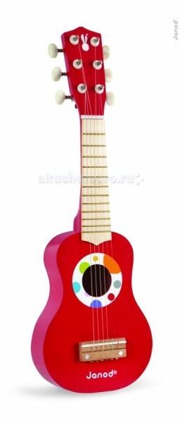 Музыкальная игрушка Janod Гавайская гитараГавайская гитараДеревянная игрушка Janod Гавайская гитара. Гитара имеет настоящие колки и 4 струны, поэтому прекрасно держит лад и хорошо звучит. При необходимости ее можно настраивать. Это яркая и веселая игрушка, с помощью которой Вы сможете привить ребенку любовь к музыке, развить его музыкальный слух и чувство ритма. Расцветка инструмента очень нежная и красивая - разноцветные шарики на ослепительно белом фоне радуют глаз.   Деревянная гитара для детей – игрушка, разработанная самыми лучшими французскими дизайнерами, имеет очень приятную и гладкую поверхность.<br>