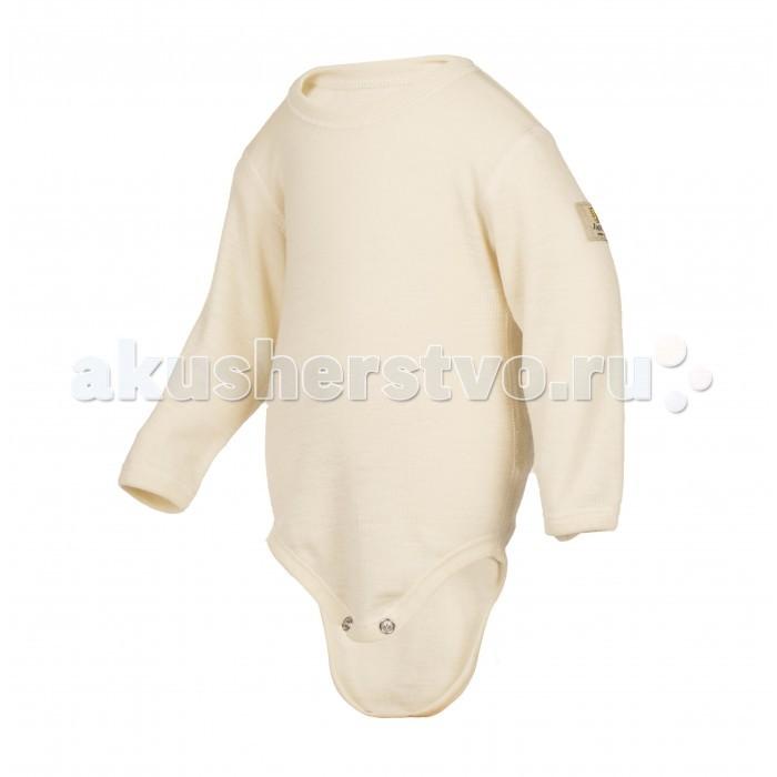 Janus Боди шерстяноеБоди шерстяноеМягкое и теплое боди Janus из 100%-ной мериносовой шерсти понравится любому ребенку! Тонкий трикотаж, обладающий гипоаллергенными и терморегулирующими свойствами, не колется и мягко прилегает к телу и нежной шее малыша, создавая комфорт и удобство.   Уникальная шерсть мериносов, из которой изготовлено боди, надежно сохраняет тепло, при этом ребенок не перегревается! Даже во время активных игр ребенок не будет потеть, ведь волокна шерсти мериносов прекрасно впитывают влагу, оставляя кожу малыша сухой и теплой.   Кроме того, натуральный материал позитивно влияет на кровообращение ребенка, предотвращает возможность возникновения кожных заболеваний – поэтому боди из шерсти мериноса можно надевать на голое тело.  Материал: 100% шерсть мериноса Уход: бережная стирка до 40 С  Продукция компании Janus сертифицирована и полностью безопасна. Вещества, применяющиеся для окрашивания шерсти, не содержат вредных веществ, поэтому шерстяную одежду могут носить даже дети, склонные к аллергии. За изделием легко ухаживать, можно стирать в теплой воде с минимальным применением моющего средства для шерстяных изделий.<br>