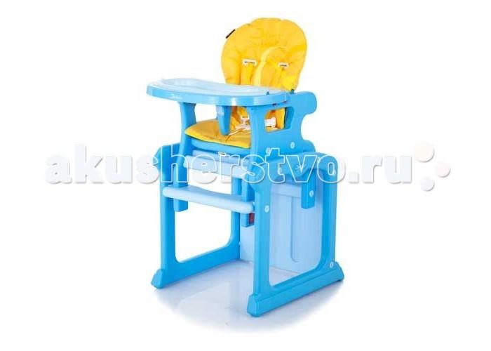 Стульчик для кормления Jetem GraciaGraciaСтульчик для кормления Jetem Gracia - может быть использован в качестве стандартного стульчика для кормления малыша, а также в качестве стульчика с партой. Этот чудесный стульчик будет полезен Вам, как для кормления малыша, так и его обучения. Когда Ваш малыш подрастет, достаточно будет разобрать стульчик на детский стул и столик, и у Вашего ребенка появится место для игр и занятий.   Особенности: - Оригинальный дизайн. - 3 положения спинки. - Легко трансформируется в стульчик с партой. - 3 положения глубины столешницы. - 5-точечные ремни безопасности. - Съемный ограничитель не позволяет ребенку соскальзывать со стульчика. - Съемная дополнительная столешница-поднос. - Матерчатая «дышащая» обивка легко снимается для очистки. - Очень устойчивый. - Стульчик легко складывается. - Материал: нетоксичная пластмасса и мягкое моющееся покрытие. - Стульчик комплектуются: съемной дополнительной столешницей  Размеры:  Высота спинки стульчика: 105 см. Ширина сидения: 54 см. Внешние размеры: 57х52х100 см. Размеры сидения: 30х60 см Вес: 10,5 кг.<br>
