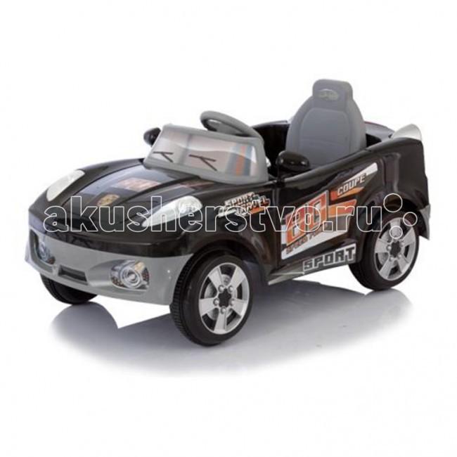 Электромобиль Jetem CoupeCoupeJetem (Capella) Coupe - мощный спортивный электромобиль на аккумуляторе. Рекомендована для детей от 1 года до 6 лет. Скорость движения - 5 км час. Для коррекции движения родителями - пульт дистанционного управления.  Характеристики: один двигатель DC 6V, работающий от аккумулятора 6В, 4,5 а/ч пульт дистанционного управления питается от двух батареек типа АА 1,5V скорость движения 5 км/ч время работы аккумулятора 1-2 час, время зарядки аккумулятора 8-12 часов ремни безопасности резиновые накладки на колесах опция включения-выключения фар разъем для подключения MP3-плеера или радио двигается во всех направления световые и звуковые эффекты  Максимальная нагрузка 30 кг. Рекомендован для детей от 1 до 6 лет. Размеры: 115х58х50 см<br>