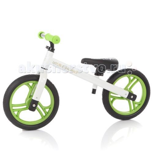 Беговел Jetem Double Balance KMA-05 - JetemDouble Balance KMA-05Jetem Double Balance - беговел, предназначенный для детей от 2 до 6 лет. Он оснащен удобным сидением и полиуретановыми колесами, не требующими накачивания. Высоту сидения можно регулировать.   Беговелы – это детские двухколесные велосипеды, у которых нет педалей. Они совмещают в себе черты велосипеда и самоката и помогают держать равновесие.  Особенности: 12 дюймовые колеса из PU эргономичное сидение с мягкой накладкой сиденье регулируется по высоте алюминиевая рама вес 2.97 кг нет тормоза нет подножки предназначен для детей от 2 лет до 6 лет (до 50 кг) допустимый рост ребенка: от 90 см до 125 см. высота сиденья: от 35 см.<br>