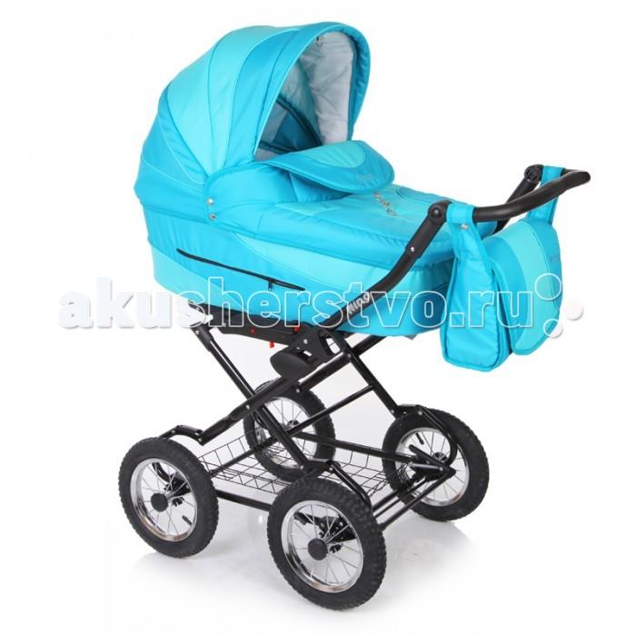 Коляска Jetem Nino 2 в 1Nino 2 в 1Классическая коляска Nino 2 в 1 - стильная многофункциональная коляска новейшей конструкции для детей с рождения до трёх лет. Модель выполнена в современном дизайне на классической  раме, с  возможностью установки автомобильного кресла.   Конструкция рамы имеет мягкую подвеску передней и задней оси, удобную, регулируемую по высоте ручку, с обшивкой из эко кожи, а так же – большую, металлическую вместительная корзину-сетку для покупок.   Регулируемая по высоте ручка. Прогулочный блок очень удобный и вместительный, с регулируемыми подножкой и спинкой (до положения лёжа). А спинку люльки можно регулировать изнутри, при помощи специальной системы. Капоры люльки и прогулочного блока оснащены тихой системой регулировки.  Имеют складной, солнцезащитный козырёк, отстёгиваемый сегмент обивки, под которым находится большое вентиляционное окно с москитной сеткой, что особенно важно в жаркие летние дни. Оба модуля коляски, устанавливаются на раме поочерёдно, в двух направлениях – лицом, либо спиной по направлению движения.   Коляска удобна и проста в обслуживании, благодаря простой системе монтажа модулей на раму. ВАЖНО!  Расцветки NN6 - NN11 комплектуются 2-мя капорами (для люльки и прогулочного блока). Люльки с полозьями для укачивания и стоперами. Колеса надувные, камерные на подшипниках.  Особенности:   Рама:  крашенная рама; надувные 12-ти дюймовые колёса; надежный тормоз на задней оси; ручка с регулировкой высоты; вместительная металлическая корзина для покупок; сложение рамы «книжкой»; ширина оси – 58 см.  Переносная люлька для новорожденного (с рождения до 6 месяцев):  большой, вместительный короб: 80*44*25 cм. (дл*ш*выс.); регулируемая спинка в люльке; съемная х/б подкладка люльки с возможностью стирки; поролоновый матрасик; большой съёмный капор с москитной сеткой в отстёгиваемом сегменте обивки; съёмный утеплённый чехол люльки; 2 ручки для переноски люльки.  Прогулочный блок для детей от 6 месяцев до 3-х лет:  удобное, широкое посадо