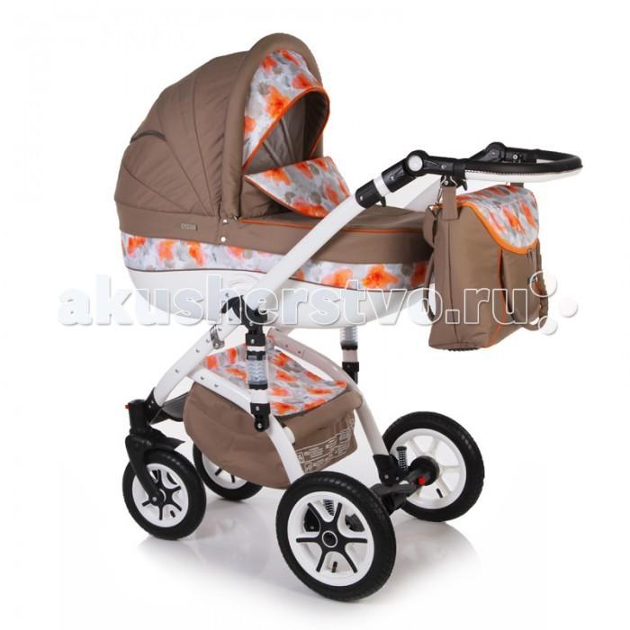 Коляска Jetem Sofi Flowers  2 в 1Sofi Flowers  2 в 1Модульная коляска Sofi Flowers  2 в 1 с дополнительной амортизацией на раме. Предназначена для детей с рождения - до трёх лет.  Рама: Алюминиевая рама; Надувные задние колёса (12 дюймов), с регулируемой амортизацией; 2 передних надувных, поворотных колеса (10 дюймов),с фиксацией и с противоударной амортизацией; Надежный центральный тормоз (педаль); Ручка с регулировкой высоты; Вместительная корзина для покупок;                                                                                                              Сложение рамы «книжкой»; Ширина оси – 59 см.  Переносная люлька для новорожденного (с рождения до 6 месяцев): Большой, вместительный пластиковый короб; Регулируемое изголовье в люльке; Съемная х/б подкладка  люльки с возможностью стирки; Поролоновый матрасик; Большой съёмный капор с москитной сеткой в отстёгиваемом сегменте обивки; Съёмный утеплённый чехол люльки; Ручка в капоре для переноски люльки, обтянутая эко кожей;  Прогулочный блок для детей от 6 месяцев  до 3-х лет: Удобное, широкое посадочное место; Полная регулировка спинки, до положения лёжа; Регулировка подножки по высоте; Пятиточечные ремни безопасности с мягкими накладками; Съёмный передний поручень; Чехол для ножек  Дополнительная комплектация: - Сумка для мамы; - Москитная сетка и дождевик  Параметры: В собранном виде: (д*ш*в) 88*59*126 см. В сложенном виде: (д*ш*в) 75*52*23 см. Размеры люльки: (д*ш*в) 74*35,5*23 см. Размеры прогулочного блока: 90*34 см. Высота сидения: 62 см. Вес люльки: 5,6 кг. Вес колёс:  4 кг. Вес коляски: 17 кг.<br>