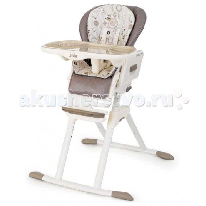 Стульчик для кормления Joie Mimzy 360Mimzy 360Joie Mimzy 360 — уникальный стульчик для кормления. Спроектирован специально для того, чтобы ваш ребенок всегда оставался в центре внимания. Благодаря своей универсальной конструкции Mimzy 360 может вращаться вокруг своей оси и имеет 4 положения установки. Спинка сидения имеет несколько уровней наклона. От положения «лежа» до положения «сидя». Сиденье стульчика регулируется по высоте, обеспечивая быстрорастущему малышу удобство и комфорт. Поднос можно прикрепить к задним ножкам стульчика для компактного и удобного хранения. Mimzy 360 рассчитан на долгую эксплуатацию. Вашему ребенку будет комфортно сидеть на стульчике и в 6 месяцев и в 3 года.   Размер в разложенном состоянии: 79х79х100 см Размер в сложенном состоянии: 79х28х114 см Вес: 11,15 кг Для детей от рождения и до 15 кг<br>