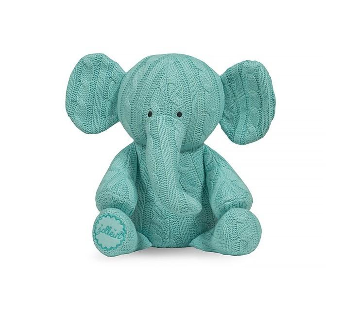 Мягкая игрушка Jollein СлоникСлоникСлоник станет лучшим другом малыша с самого рождения. Выполнен из вязаного полотна.  Вязаные пледы «Косичка» из этой же коллекции отлично сочетаются. Создайте очень красивый подарок на выписку, на рождение.  Размер:  36x30 см  Материал: 50% хлопок, 50% акрил   Наполнитель: 100% полиэстер<br>