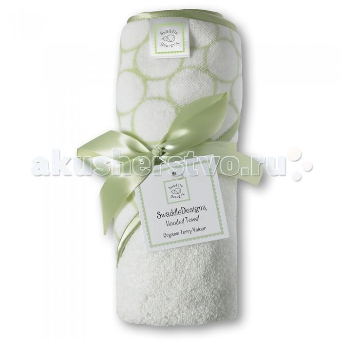 SwaddleDesigns Полотенце с капюшоном Hooded Towel-Organic