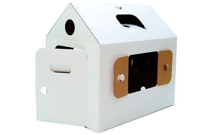 Игровой домик Картонный папа из картона Мини домик
