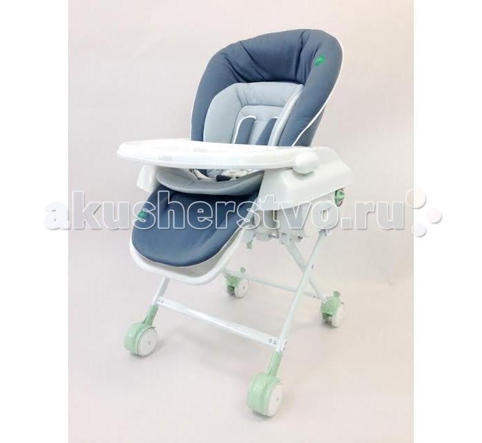 Колыбель Katoji стульчик 3 в 1стульчик 3 в 1Колыбель-стульчик Katoji для малышей в возрасте от рождения до 4-х лет.  Особенности стульчика - колыбели: может быть использована для детей с рождения до 4 лет (до 18 кг) угол наклона спинки: 3 положения (120-140-165 градусов) механическое укачивание колыбели раскладывание колыбели в горизонтальное положение для сна и отдыха мягкая защита головы и тела ребенка из органического хлопка 85% и 15% конопли, что обеспечивает комфортное нахождение в колыбели регулировка высоты колыбели (4 уровня высоты) - высота сиденья: 54 см, 49 см, 45 см и 22 см  5-ти точечный ремень безопасности многофункциональное использование: первые месяцы – колыбель, от 6 месяцев - стульчик со столиком для кормления, до 4 лет - высокий стульчик съемный столик с высокими бортиками, из антибактериального материала удобно в использовании съемная ткань колыбели (используются только натуральные ткани) - стирка при 40 градусов размер колеса 9 см, ширина  6 см конструкция колыбели обеспечивает ее устойчивость удобна в обращении, мобильна, легко складывается и раскладывается  Размеры колыбели: ширина 56 x глубина 88 x высота 70&#12316;100 см Масса колыбели: 10.1 кг<br>