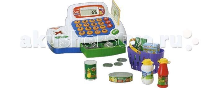 Keenway Кассовый аппарат с предметамиКассовый аппарат с предметамиИгрушка Keenway Кассовый аппарат с предметами - это тематический набор со звуковыми и световыми эффектами для сюжетно - ролевой игры в магазин. Электронный кассовый аппарат с LCD-экраном. Прекрасная развивающая игра для детей от двух лет. Ребенок может почувствовать себя продавцом или покупателем в магазине. Теперь можно посчитать сумму покупки – касса оборудована самым настоящим калькулятором. Ребёнок нажимает на кнопочки, раздаётся пикающий звук, а на жидкокристаллическом дисплее кассы чётко видна сумма. Возможна оплата кредитной картой, для этого на кассовом аппарате есть специальная прорезь. Чтобы снять деньги на покупку, ребёнок проводит картой оплаты через считывающее устройство. Сюжетно - ролевая игра развивает фантазию и воображение. В процессе игры вырабатываются ловкость и слаженность движений рук, мелкая моторика и координация.<br>