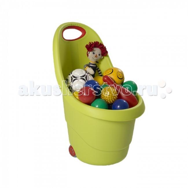 Keter Корзина для игрушекКорзина для игрушекУдобная и практичная тележка на колесах станет любимой игрушкой вашего ребенка, которая поможет в игровой форме приучить детей к порядку.   Предназначена для хранения детских игрушек, принадлежностей и т.п.  Подходит для детей от 2 лет и старше. Удобная ручка с антискользящим покрытием.  Размеры: 38х35х62 см.<br>