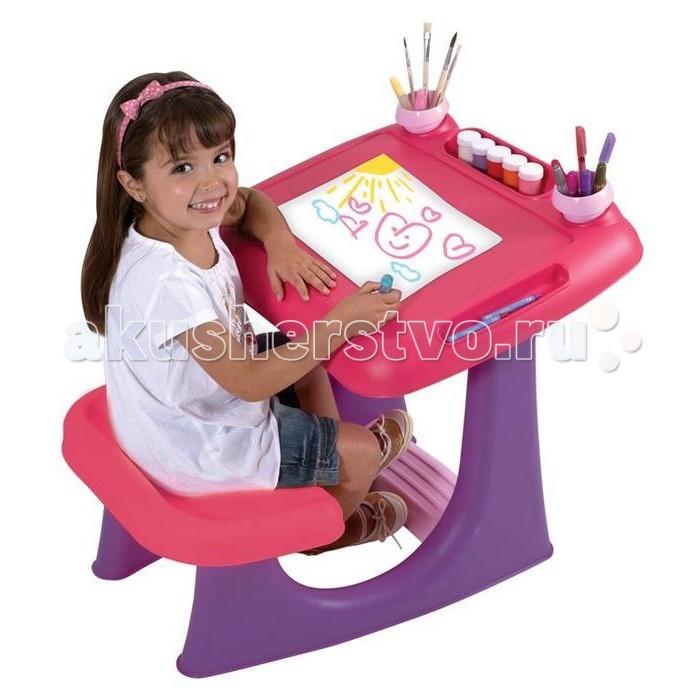 Keter Столик детский для рисования ШеллиСтолик детский для рисования ШеллиKeter Столик детский для рисования Шелли из устойчивого и долговечного пластика.  Особенности: Легкая сборка Подставка для ног и 2 съемные подставки для мела и карандашей Подставки для пластиковых и бумажных емкостей при работе с акварелью<br>
