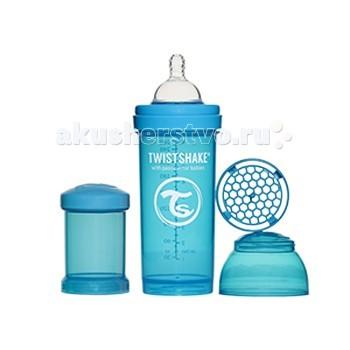 Бутылочка Twistshake с контейнером 260 мл