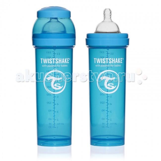 Бутылочка Twistshake с контейнером 330 млс контейнером 330 млБутылочка Twistshake с контейнером для сухой смеси и соской.  Современные родители, которые хотя бы раз сталкивались с приготовлением молочной смеси для малыша знают, что добиться однородности и отсутствия комочков в смеси очень нелегко. Twistshake решает эту проблему раз и навсегда. Уникальная особенность бутылочек Twistshake - наличие специального шейкера, который тщательно разбивает молочную смесь.  Все бутылочки Twistshake имеют антиколиковые соски, специальный клапан которых предотвращает попадание лишнего воздуха и снижает вероятность возникновения колик у малыша.   В комплекте каждой бутылочки имеется контейнер для сухой смеси. Он незаменим в дороге, ведь смесь нужно готовить непосредственно перед употреблением, а не заранее. Также контейнер можно использовать и для транспортировки детского питания или снеков. Баночки соединяются между собой, что экономит место и очень нравится детям.   Бутылочки Twistshake выполнены в ярких сочных цветах. Поэтому это не только необходимый аксессуар для кормления ребенка, но и модный атрибут образа мамы. А как понравятся подрастающему и сделавшему первые шаги ребенку эти лиловые, зеленые, голубые и оранжевые оттенки!  Все бутылочки и соски Twistshake соответствуют европейскому стандарту качества EN-14359.  В комплекте: бутылочка объемом 330 мл с соской со средним потоком 4+, контейнер для хранения сухой смеси объемом 100 мл.  Особенности: Соски исключительно физиологичны благодаря широкой форме и ребрам жесткости; Специальный клапан исключает попадание лишнего воздуха во время кормления, снижая вероятность возникновения колик у детей; Бутылочки представлены в объемах 180, 260 и 330 мл; Фильтр для лучшего растворения смеси и разбивания комочков; В комплекте контейнер для хранения сухой смеси объемом 100 мл; Крышечка для чистоты и гигиены соски; • Не содержит Бисфенол А.<br>