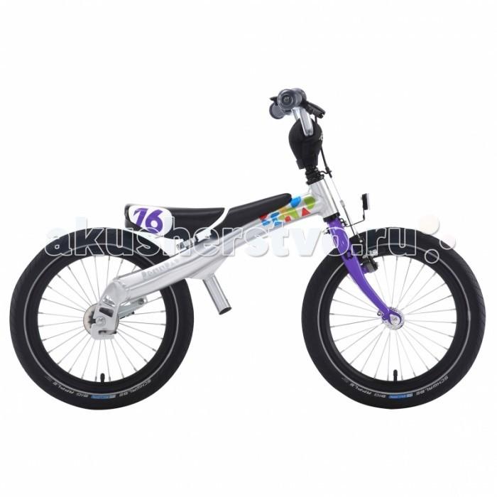 Беговел Rennrad Велосипед 2 в 1 16Велосипед 2 в 1 16Rennrad Беговел-велосипед 2 в 1 16   Благодаря беговелу-велосипеду Rennrad два в одном ваш ребенок легко и быстро научится держать равновесие. Rennrad – это велосипед, специально разработанный в Германии для детей, большинство деталей которого изготовлено из высококачественного алюминиевого сплава.  Особенности: Он прошел проверку Государственной инспекции безопасности и соответствует требованиям жестких стандартов и правил.  Его съемные педали разработаны с помощью врачей ортопедов и педиатров, чтобы помочь детям легко и безопасно научиться балансировать, наклоняться на велосипеде и управлять им с помощью руля.  Его уникальная беспедальная конструкция (режим беговела) придает ребенку чувство уверенности и исключает страх, позволяя детям держать ноги на земле и катиться вперед, балансируя и отталкиваясь в своем собственном темпе. Это позволяет им полностью наслаждаться поездкой на велосипеде-беговеле Rennrad. Когда дети становятся старше и уверенно держат равновесие, педали можно установить на место, и беговел Rennrad превратится в полноценный детский велосипед.  Конструкция «два в одном» позволяет детям пользоваться своим велосипедом долгое время. Легкая алюминиевая рама имеет специальную форму, которая обеспечивает наилучшую жетскость конструкции и исключает возможные деформации в процессе эксплуатации.  Специальная мягкая накладка на верхней части рамы, обеспечивает комфорт малышу во время катания на беговеле и обеспечивает дополнительную защиту от возможных травм.  Все компоненты беговела-велосипеда - седло, педали, шатуны, рулевые и тормозная ручка разработаны с учетом детской анатомии и обеспечивают дополнительный комфорт.  Передняя звезда, цепь и задняя звездочка полностью закрыты пластиковым чехлом, что обеспечивает безопасность и чистоту рабочих поверхностей во время катания.  Легкие шины Innova slick имеют оптимальный протектор-рисунок, обеспечивающий наименьшее сопротивление качению и как результат - наи