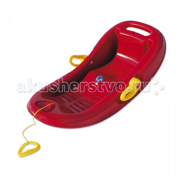Санки KHW Snow Flipper de luxeSnow Flipper de luxeОписание:Санки Snow Flipper De Luxe фирмы KHW для детей разных возрастов с тормозной системой и высокими бортиками; рельефная поверхность для ног предотвращает скольжение.   Большим плюсом санок является наличие тормозной системы, используя которую, ребёнок может в любой момент остановиться. Такая система даст возможность избежать переворачивания санок на неровных спусках.  Нескользящая рельефная поверхность для ног обеспечивает дополнительную безопасность и надёжную фиксацию. Для более комфортного катания в снаряде предусмотрена удобная поднимающаяся спинка.  Маленьких детей родители могут катать на санках, везя их за собой при помощи прочной верёвки, которая крепится за переднюю часть санок.  Чтобы верёвка не врезалась в руки, её оснастили специальной удобной ручкой, изготовленной из пластика. Для изготовления этого зимнего снаряда применяется прочный пластик высшего качества.  Он абсолютно безвреден для здоровья человека, так как не имеет в своем составе каких-либо ядовитых или токсичных веществ, это доказывает наличие сертификата СЕ на данную модель.    Размер: 95х51х25 см. Вес (г): 2,5 кг.  Максимальная нагрузка (кг): 70.  Сертифицированы: CE.  Цвет: красный, синий.<br>