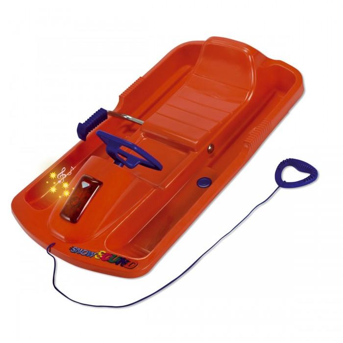 Снегокат KHW Snow SoundSnow SoundСнегокат KHW Snow Sound подарит вашему малышу много радости во время зимних прогулок.   Особенности:   Благодоря тому, что руль поворачивает две лыжи, управление становится более четким. Снегокат сделан из тонкостенного, прочного, морозостойкого пластика, с ребрами жесткости. Сиденье имеет форму, предотвращающую скольжение ребенка. Справа находится ручной тормоз. Спереди расположена звуковая панель со световыми сигналами.  Тип: одноместные. Возраст: от 5 лет. Максимальная нагрузка: 75 кг. Габариты: 95 x 50 x 23 см. Вес: 3,15 кг.<br>