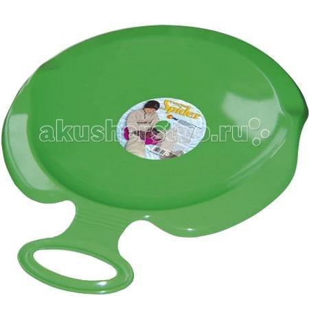 Ледянка KHW SpiderSpiderKHW Spider - большая пластиковая ледянка для взрослых и детей от 5 лет.  Ледянка сделана из легко, прочного, морозоустойчивого пластика. Спереди расположена удобная ручка.  Характеристики: Диаметр: 55 см Вес: 0.5 кг Минимальная температура: -20 С Максимально допустимый вес: 80 кг  Цвета в ассортименте.<br>