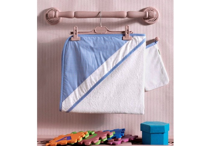 Kidboo Комплект полотенце-уголок + варежка Little Farmer