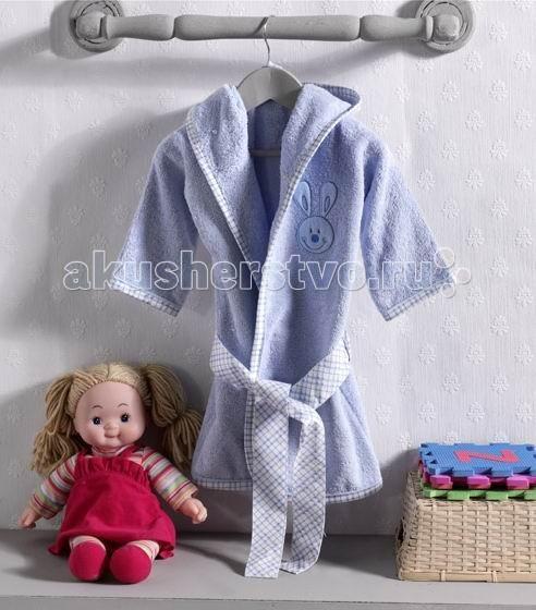 Халат Kidboo Rabbitto Blue махровыйRabbitto Blue махровыйХалат махровый с капюшоном Kidboo Rabbitto Blue (в коробке), выполнен из высококачественного 100% хлопка и оформлен красивой вышивкой, с использованием бархата, трикотажа и других материалов.  Халат с капюшоном пригодится вашему малышу после принятия ванны. Он очень мягкий, уютный и приятный на ощупь, хорошо впитывает влагу.   Халатик без труда одевается на влажное тело, завязывается на поясок и быстро согревает ребенка после купания.   Размеры: 6-18 мес; 18-24 мес; 3 года; 4 года; 5 лет; 6 лет<br>