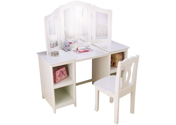KidKraft деревянный туалетный столик трельяж для девочек Делюкс