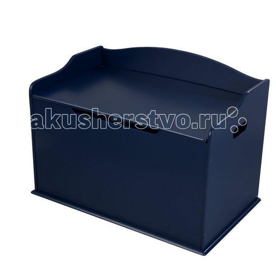 KidKraft Ящик для хранения Austin Toy BoxЯщик для хранения Austin Toy BoxKidKraft Ящик для хранения Austin Toy Box игрушек, может использоваться как скамейка или подставка. Крышка изделия содержит шарниры, которые предотвратят защемление детской руки.   В комплекте с ящиком есть инструкция со схемой сборки изделия.   Размер: 78 х 47 х 50 см<br>