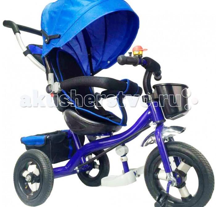 """Велосипед трехколесный KidsCool HP-TC-006 надувные колесаHP-TC-006 надувные колесаДетский трехколесный велосипед HP-TC-006 надувные колеса с ручкой толкателем и капюшоном.  Характеристики: Ручка управления движением позволяет родителям одной рукой контролировать поездку и управлять велосипедом; защитный разъёмный поручень; складывающиеся подножки; складывающийся двух сегментный капюшон  Спинка с регулировкой угла наклона, 3 положения; удобные не проскальзывающие педали из рифленого пластика; металлическая хромированная ручка; эргономичное и удобное сиденье с мягкой тканевой подушкой; две мягкие подушечки на спинке; возможность блокировки задних колеса; тканевая багажная корзина для вещей и игрушек; колёса 10""""/8"""" хромированные алюминиевые диски.<br>"""