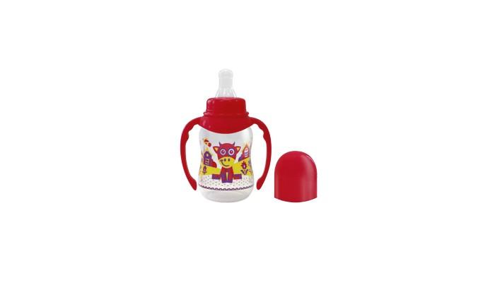 Бутылочка Lubby Русские мотивы с силиконовой соской и ручками с 0 мес. 120 мл