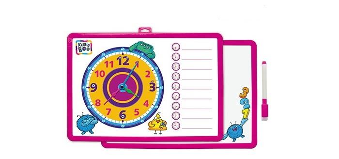 Kribly Boo Доска-часы двусторонняя с маркером для рисования