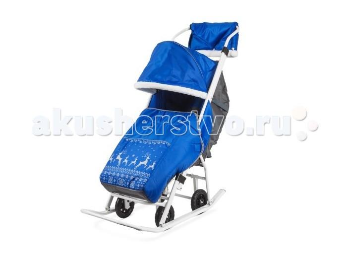Санки-коляска Kristy Мое детство Норвежский орнамент с муфтой