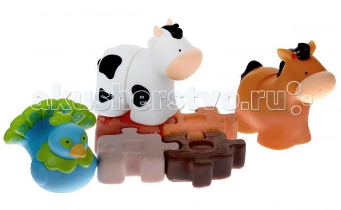Развивающая игрушка KS Kids ФермаФермаИгрушка Ферма идеально подходят для маленьких детей.  В комплект входят 3 фигурки животных из двух частей (петух, поросенок и барашек) и забор – четыре детали, которые соединяются друг с другом как паззл. Прилагается также красочная книжка – ее можно использовать в качестве фона для игровых сценок.  Детали от разных конструкторов комбинируются между собой – можно объединить несколько наборов. Конструктор подходит для игр в ванной.<br>