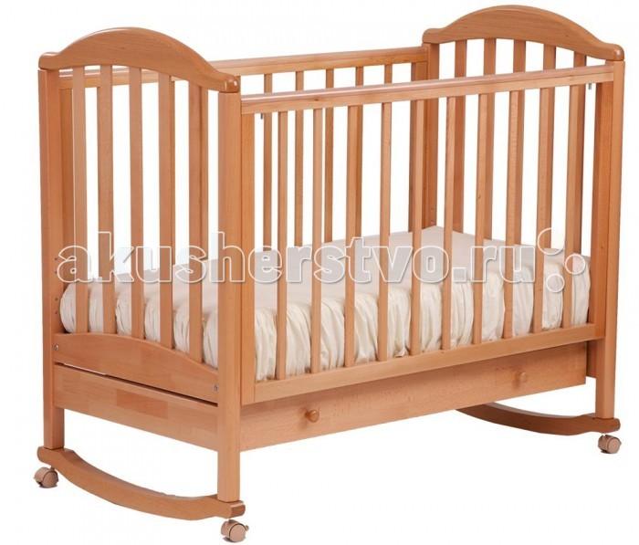 Детская кроватка Кубаньлесстрой АБ 17.1 Лилия Люкс качалка с ящиком