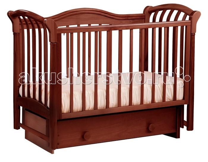 Детская кроватка Кубаньлесстрой БИ 10.2 Азалия маятник поперечныйБИ 10.2 Азалия маятник поперечныйАзалия- кровать с маятником поперечного качания. Как и вся продукция ЛЕЛЬ, кроватка выполнена из массива бука, в классическом дизайне. Массив бука, ящик массив сосны, все только натуральное, чистое, все от природы.  Характеристика:  Кроватка детская с маятником поперечного качания, два положения передней стенки, два уровня положения дна, Силиконовые защитные накладки, Безопасное расстояние между рейками 80 мм, Съемная передняя стенка, Вместительный выдвижной ящик 2 съемные планки с передней стенки, Размер ложа 120х60. Внутренний размер ящика: 106.2х50х12 Внешний размер кроватки(ДхШхВ): 142.5х73х108 см Размер в упаковке(ДхШхВ): 125х78х24 см Высота ложа от пола Нижний уровень 34.4 см Высота ложа от пола Средний уровень 44 см<br>