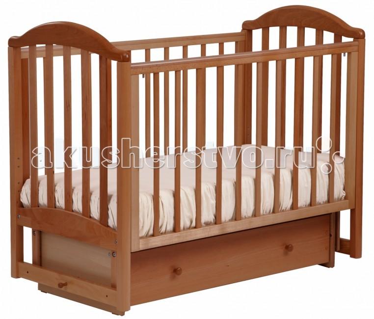 Детская кроватка Кубаньлесстрой АБ 17.2 Лилия Люкс маятник поперечный с ящиком