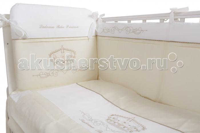 Постельное белье Ladema Bebe Princesa 125х65 (3 предмета)Bebe Princesa 125х65 (3 предмета)Комплект постельного белья 3 предметов Bebe Princesa rosa Ladema изготовлен из практичного, гипоаллергенного текстиля.  для кроватки размером 65х125 см можно стирать в машинке пододеяльник и наволочка снабжены молнией простынь на резинке 100% сатин-хлопок  В наборе: пододеяльник - 100х135 см  наволочка - 40х60 см  простыня на резинке<br>