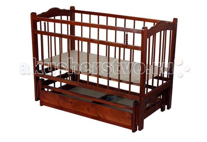 Детская кроватка Ладушка Л-7 маятник поперечный/ящик