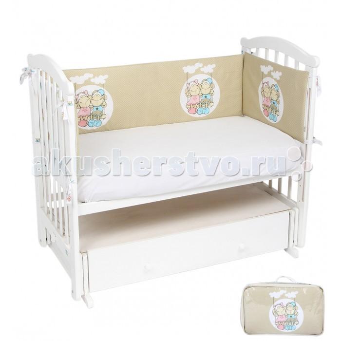 Бампер для кроватки Leader Kids Овечки от Акушерство