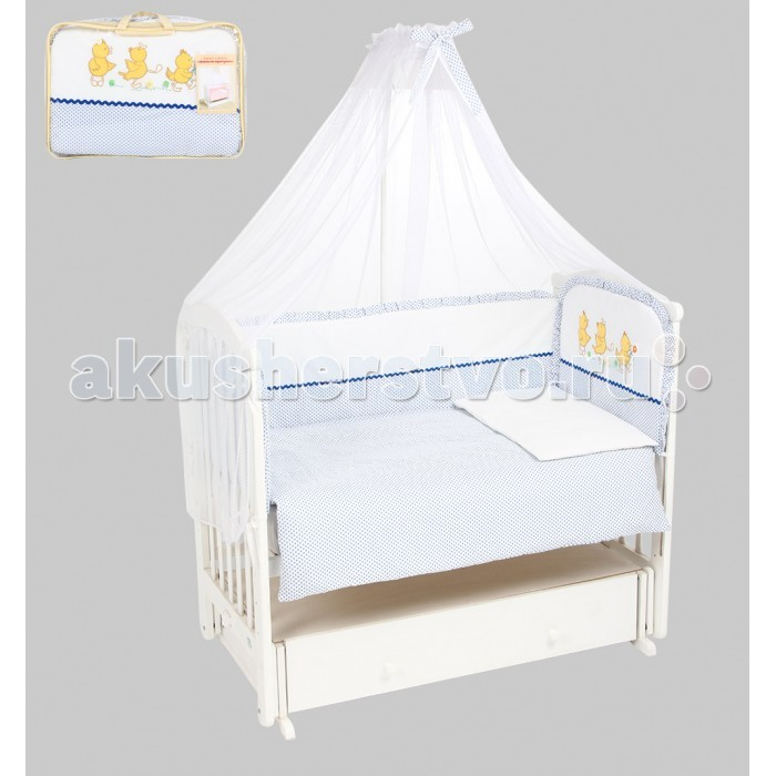 Комплект в кроватку Leader Kids Утята на прогулке (7 предметов)