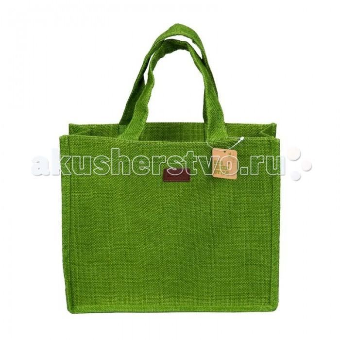 Lejoys Сумка JuteСумка JuteЭко-аксессуары завоевывают популярность во всех сферах жизни. Такая яркая сумка из натурального джутового волокна будет выглядеть очень эффектно во время шопинга или прогулки по городу. Темно-зеленый цвет сумки и грубая фактура ткани станут прекрасным дополнением к любому модному наряду. Еще одним несомненным достоинством такой сумки является ее прочность и вместительность. Она станет надежным спутником в походе по магазинам.  Основные характеристики:  Размеры: 29 х 23 см<br>